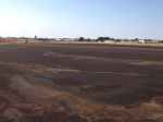 Broome staff made us park far away because of all the extra incoming aircraft (cough)