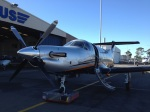 In front of the Pilatus hangar in Adelaide Airport