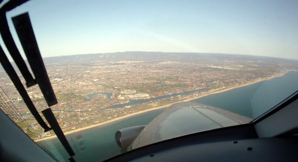 Coming into Adelaide over the coast