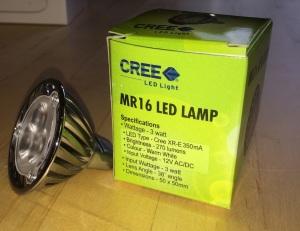 MR16 CREE 3W LED (270 Lumens)
