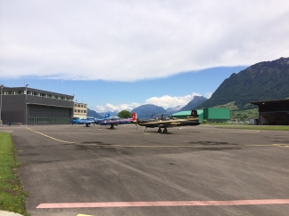 Aircraft at Pilatus Factory in Switzerland