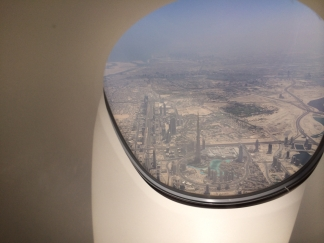 Burj Khalifa on takeoff from Dubai