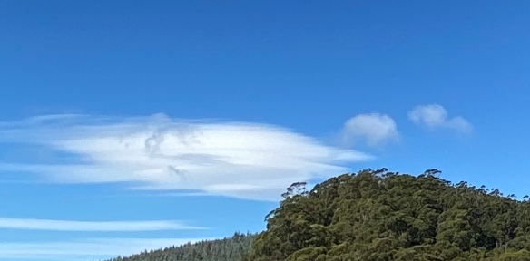 Lenticular Wave Clouds over Mole Creek (detail)